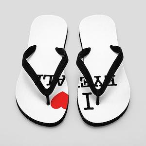 I Love EYEBALL Flip Flops