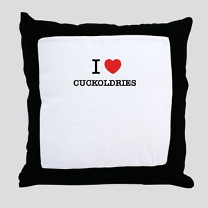 I Love CUCKOLDRIES Throw Pillow