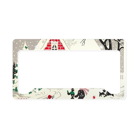 winter wonderland primitive C License Plate Holder by ADMIN_CP62325139