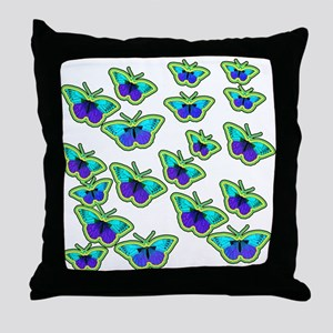 BUTTERFLY BLUES :-) Throw Pillow