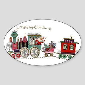 Christmas Santa Toy Train Sticker