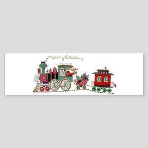 Christmas Santa Toy Train Bumper Sticker