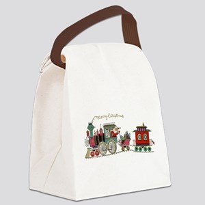 Christmas Santa Toy Train Canvas Lunch Bag