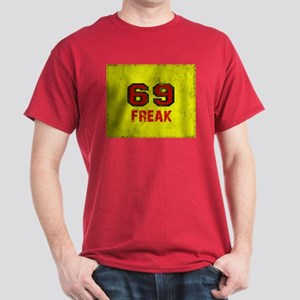 69 FREAK red black yellow vintage T-Shirt