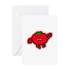 Dancing Tomato Greeting Card