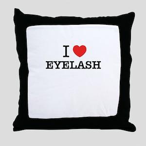 I Love EYELASH Throw Pillow