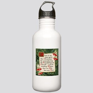 pine wreath christmas Stainless Water Bottle 1.0L