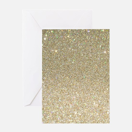 art deco gold glitter Greeting Cards