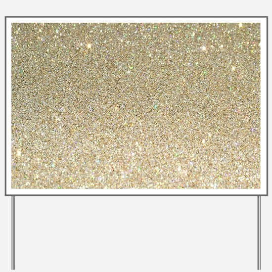 art deco gold glitter Yard Sign