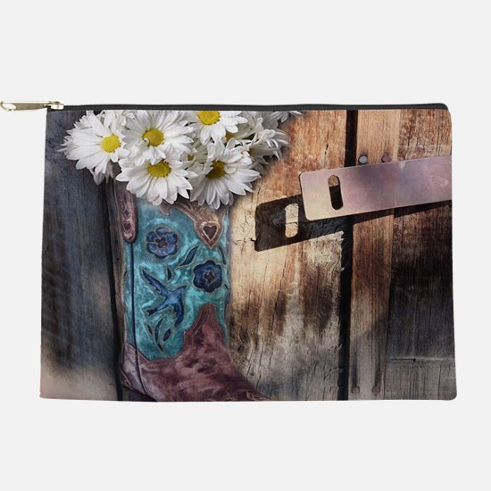 rustic daisy western country cowgirl Makeup Bag
