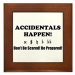 AH! Dont Be Scared! Be Prepared! Framed Tile