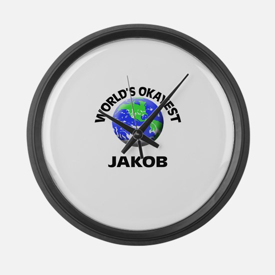 World's Okayest Jakob Large Wall Clock