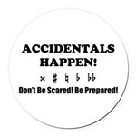 AH! Dont Be Scared! Be Prepared! Round Car Magnet