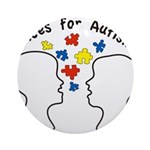 Voices for Autism Round Ornament