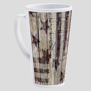 barn wood rustic Americana 17 oz Latte Mug