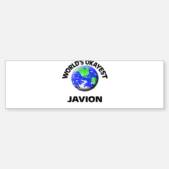 World's Okayest Javion Bumper Bumper Bumper Sticker