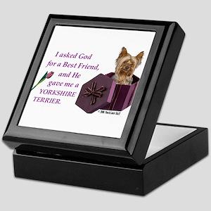 Yorkshire Terrier Yorkie Keepsake Box