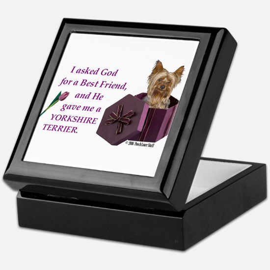 Yorkshire Terrier Yorkie Keepsake Box