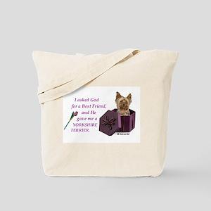 """God Gave Me A Yorkshire Terrier"" Tote Bag ( Yorki"