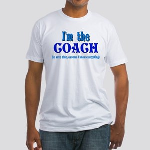 I'm the Coach -Blue Fitted T-Shirt