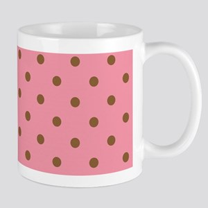 pretty in brown polka dots Mugs