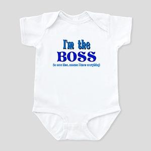 I'm the Boss- Blue Infant Bodysuit