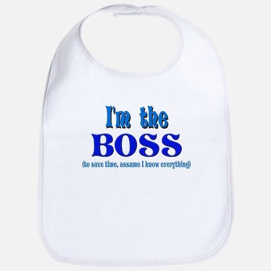 I'm the Boss- Blue Bib