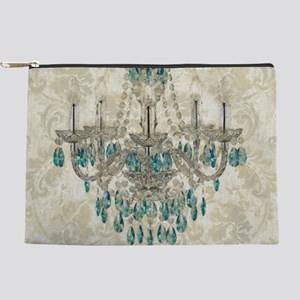 vintage chandelier damask paris Makeup Bag