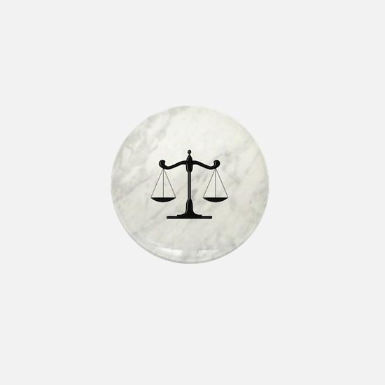 Scales of Justice Mini Button