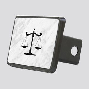 Scales of Justice Rectangular Hitch Cover