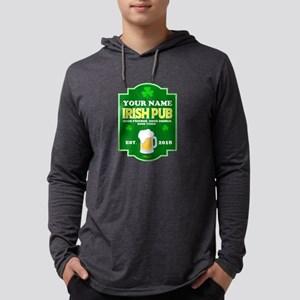 Irish Pub sign Mens Hooded Shirt