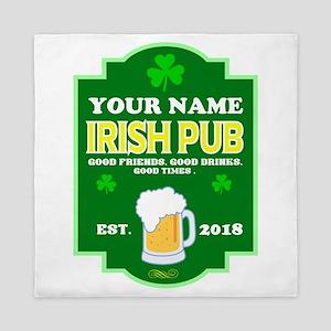 Irish Pub sign Queen Duvet