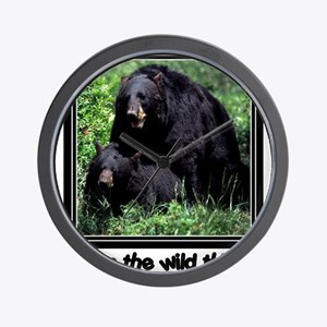Wild Thing Bear Wall Clock
