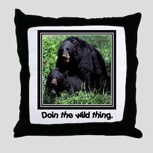 Wild Thing Bear Throw Pillow