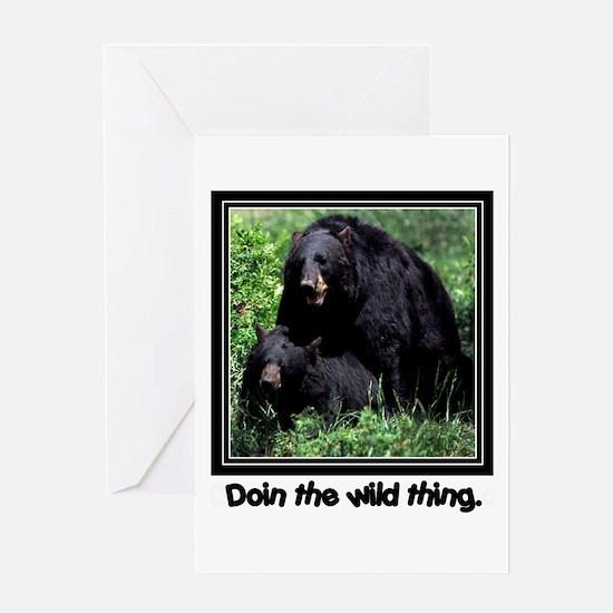 Wild Thing Bear Greeting Card