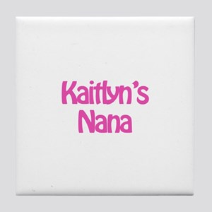 Kate's Nana Tile Coaster