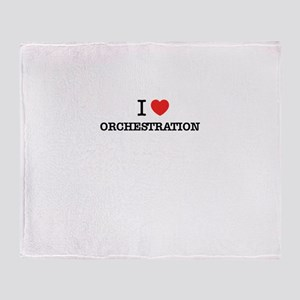 I Love ORCHESTRATION Throw Blanket