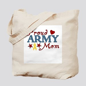 Proud Army Mom Collage Tote Bag