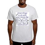 Great Dog Activities Ash Grey T-Shirt