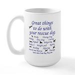 Great Dog Activities Large Mug