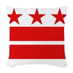 3 Stars and 2 Bars Woven Throw Pillow