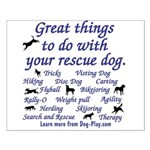 Great Dog Activities Small Poster