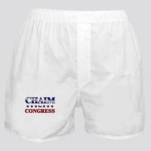 CHAIM for congress Boxer Shorts
