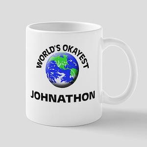 World's Okayest Johnathon Mugs