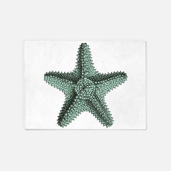 Vintage Starfish 5'x7'Area Rug