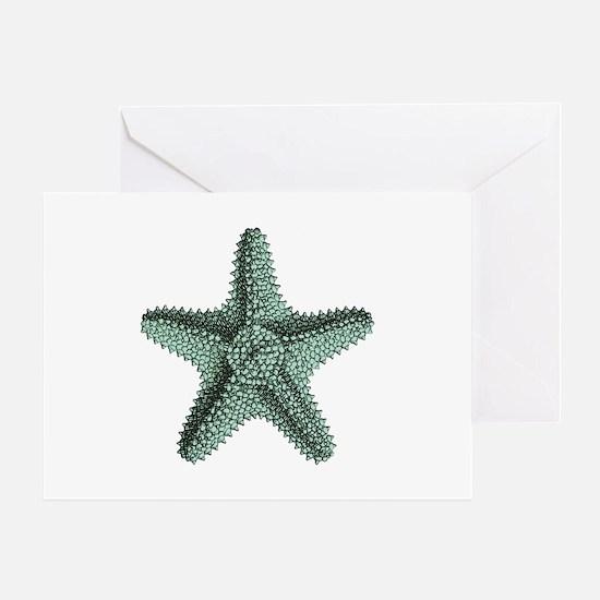 Vintage Starfish Greeting Card