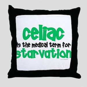 Celiac: Starvation 1 Throw Pillow