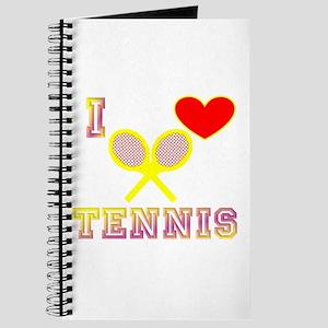 I Heart Tennis Yellow Journal