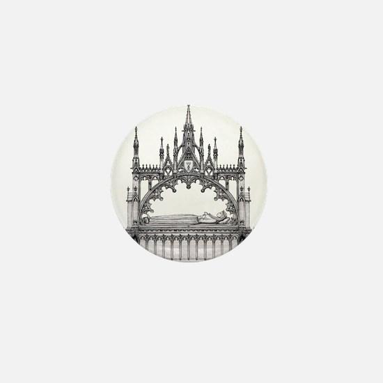 gothic tomb Mini Button