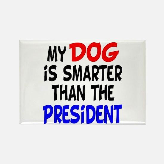 Dog Smarter Than-2 Rectangle Magnet